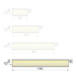 Listwa LED EVERLIGHT PROFESSIONAL 14,4 W/m, 12V DC, RGB, 1m, gwarancja 3 lata