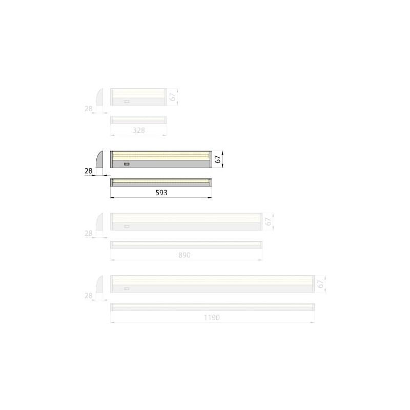Lampa wodoszczelna Kluś HR- KAT-25, 1W, IP67, 12V DC, gwarancja 2 lata
