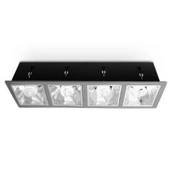 Żarówka przemysłowa LED 100W E40 flat panel - 300 diod 5630SMD, gwarancja 5 lat
