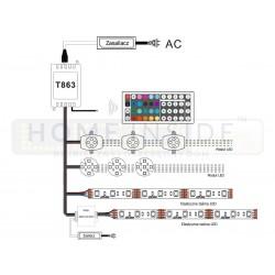 Taśma LED PRO 14,4W/m, 60xLED SMD 5050/m, RGBW BZ, IP20, 5m