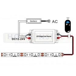 Taśma LED PRO+ 4,8W/m, 390lm/m, 3000K, Ra80, 12VDC, IP67, 5m