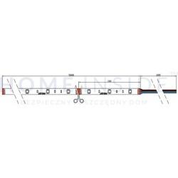 Listwa LED OSRAM 13W/m, 1215lm/m, 2700K, 24VDC, IP20, 0,96 m, gwarancja 5 lat