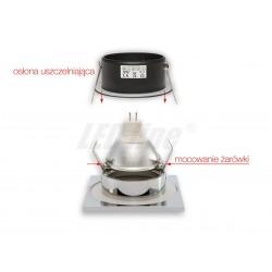 Lampa AKME SPOT LED AR111 18W 3000K srebrna