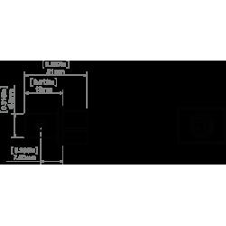 Taśma LED PRO 14,4W/m, 60xLED SMD 5050/m, IP65, biały zimny, 1m