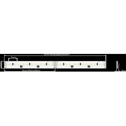 Półka podświetlana LED 400x200x6mm