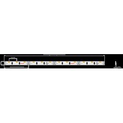Półka szklana LED 400x250x8mm